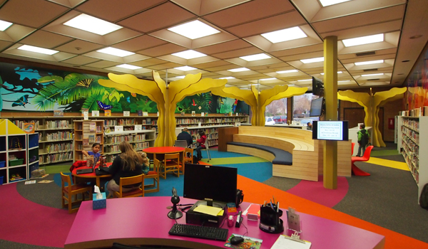 Caldwell public library children s area remodel trout - Children s room interior images ...